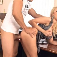 Dona Bell Horny Blonde With Big Tits Fucks With Janitor in the Office