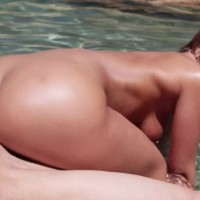 Jada Stevens Cock Riding at the Poolside