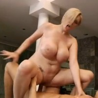 Busty Blonde Oiled Up and Fucked