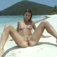 Melissa Mendiny showing her beautiful body on the beach