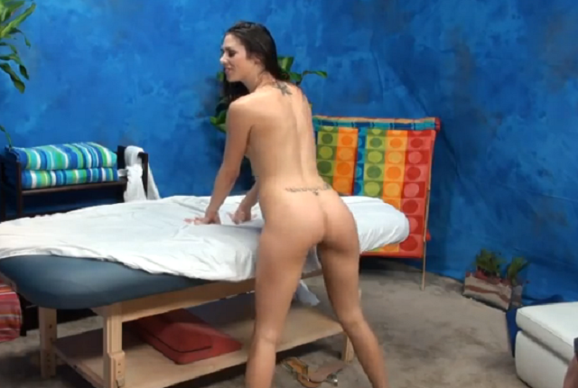 Hot teen Anastasia Morna in massage room