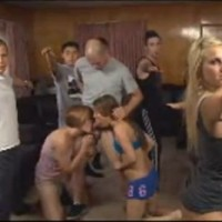 Porn stars aerobics and gang bang party