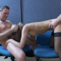 Group fucking at work in the office