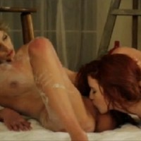 Two hot artists Elle Alexandra and Jasmine in lesbian ecstasy