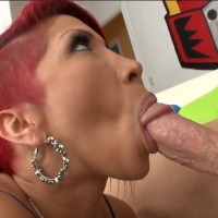 Redhead babe Kayla Carrera deep swallows big hard cock