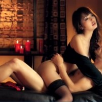 Hot Asian babe Marika Hase in black stockings has romantic sex