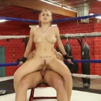Beautiful Busty Female Boxer Natalia Starr Gets Fuck in the Ring