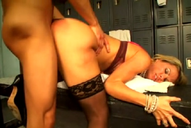 Hot Busty Blonde Kayla Synz Gets Hard Pounding in the Locker Room