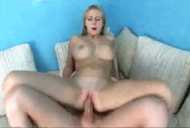 Sexy blonde with big tits gets anal fuck by her boyfriend