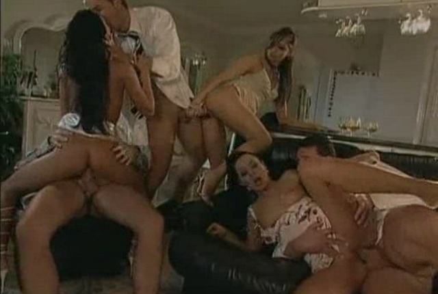 Alexa May, Christina Bella and Sandra Romain having a gang bang