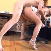 Horny hot secretary Carla Cox Screws at the workplace