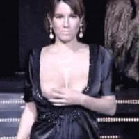 Catwalk nipple slips Croatian celebrity Nives Celzijus