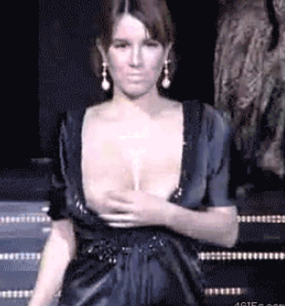 Catwalk nipple slips Croatian celebrity Nives Celzijus