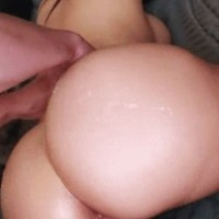 Big white ass of curvy GF Sheila Marie banged from behind