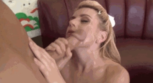 Handjob with both hands and big facial Lexi Belle