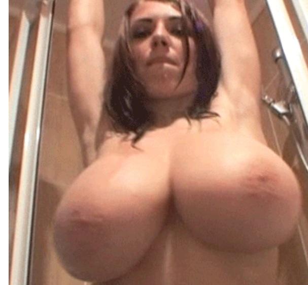 Huge tits under shower Merilyn Sakova