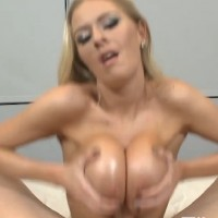 Titty fuck worship blonde amateur big boobs