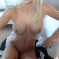 Sexy Blonde on a Wecam