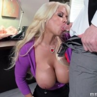 Hot bank robbery Bridgette B with huge boobs