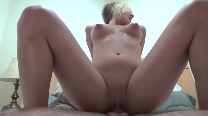Emo blonde with perky tits amateur cock ride