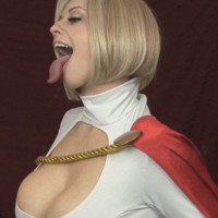 Cosplay Larkin Love as super hero