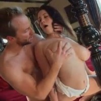 Big natural tits Noelle Easton drilled by her husband