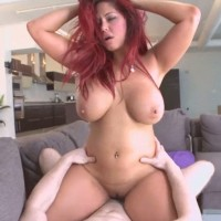 Redhead MILF Helen Ciello fucked and jizzed on natural tits
