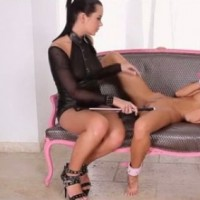 Mia Manarote with her lesbian slave BDSM