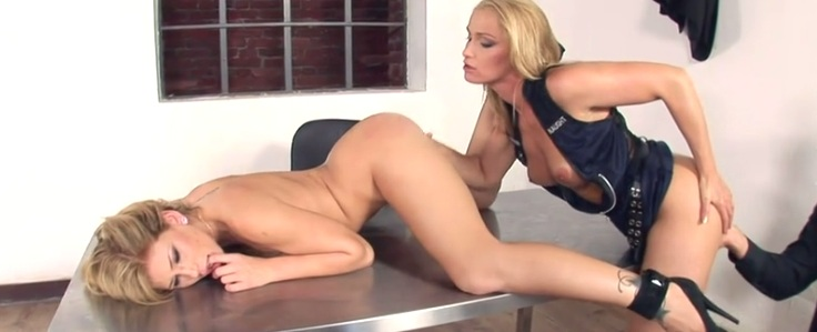 Brooklyn Lee and Kathia Nobili fucked by police officer Nick Lang