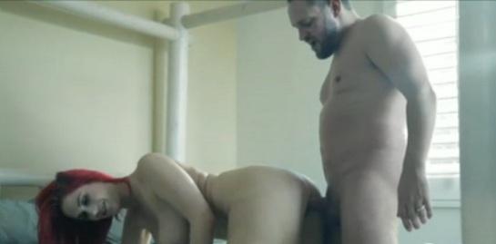 Huge boobs redhead fucked nice in doggystyle