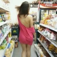 Cute girl naked in public