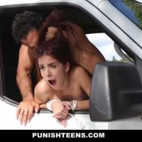 PunishTeens – Tiny Teen Snatched Up and Fucked In Van