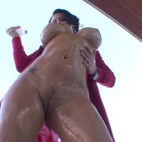 Presley is oiled up, talking dirty, and fucking like