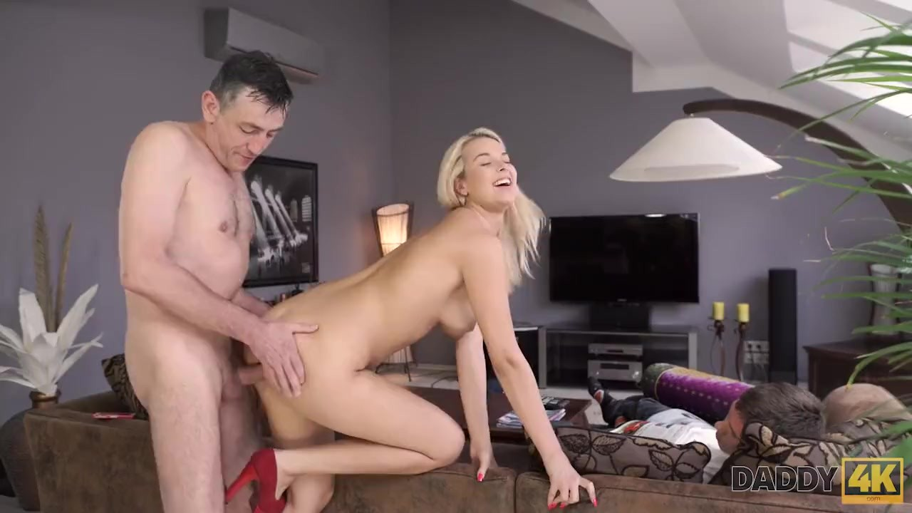 Magnificent Anal Hole : DADDY4K. Aroused chick allows old dad to analyze her in various ways