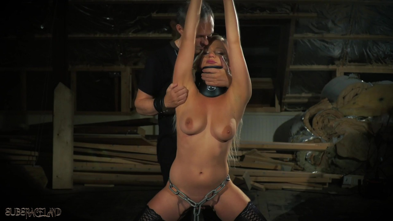 Pleasant Babes sex : Teen bondage sex slave pleasing her master's whip
