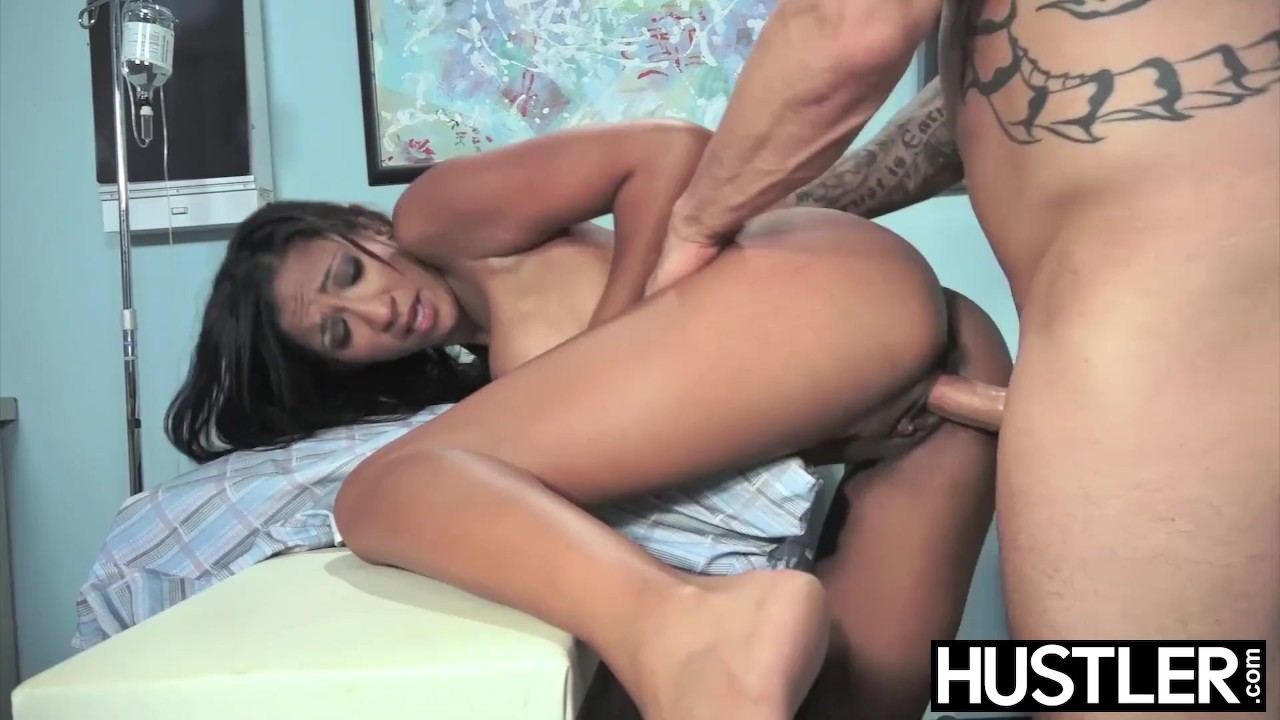 Terrific Anal Hole porn : Latina nurse Sadie Santana gets both holes stretched hard