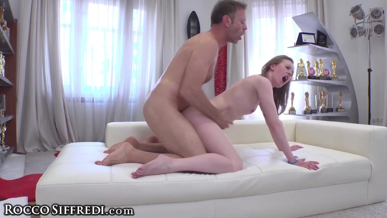 Phenomenal Anal sex :  Rocco Siffredi Stretches Skinny Teen's Ass in Casting Vid