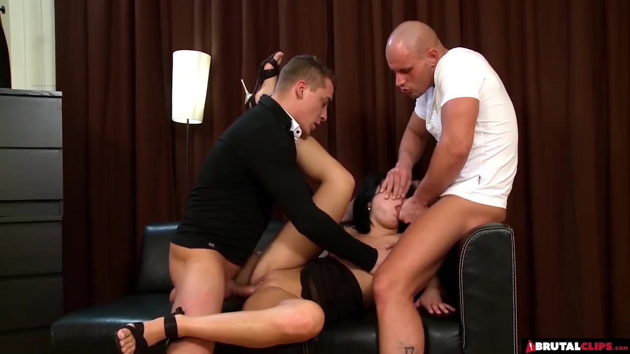 Brilliant Babes porn :  Lucy Bell Gets Double Teamed And Roughed Hard