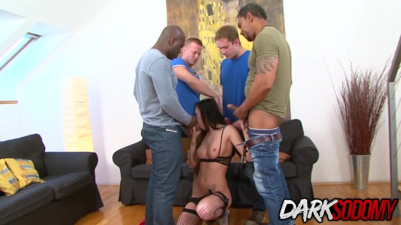 Phenomenal Teen Babe fucking : Slutty Teen Belle Claire Shares Her Asshole and Pussy with Four Men