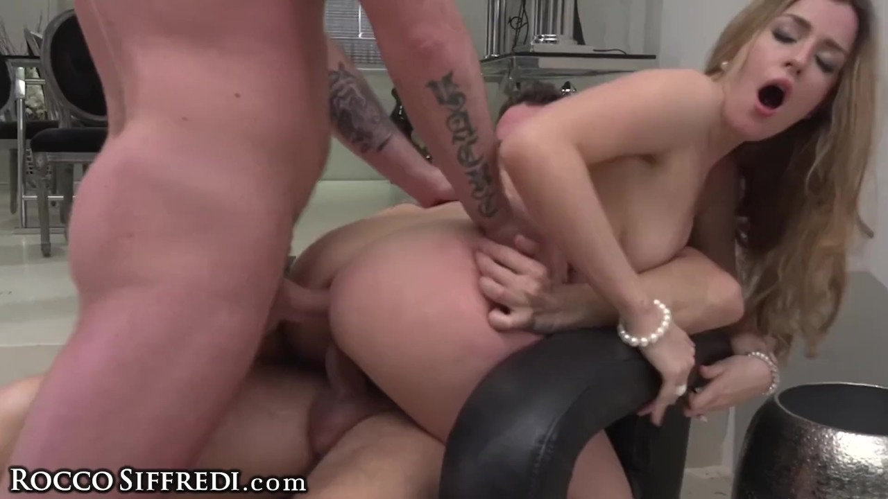 Fabulous Ass sex : RoccoSiffredi Marica's Holes get Fucking Drilled in Rough DP 3-Way
