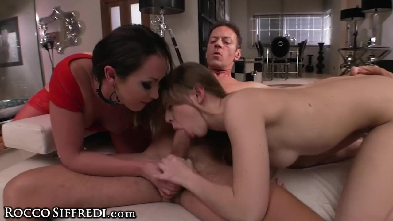 Sensational Babe :  Rocco Siffredi Makes Euro Teen GAG Fucks Her & MILF Licks Pussy