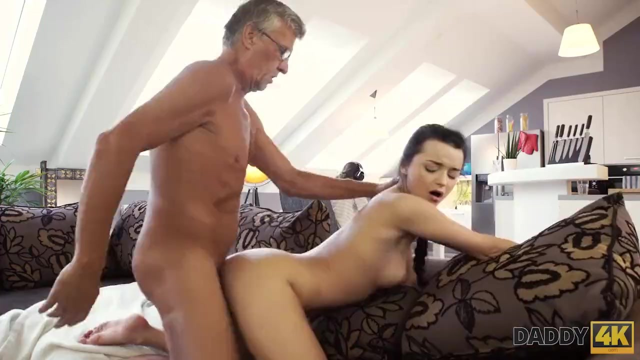 Astonishing Teen Babe sex : DADDY4K. Raven-haired angel gets old and young sexual experience
