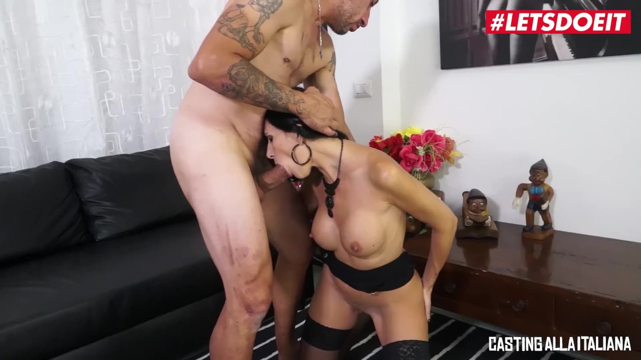 Tremendous Ass sex : LETSDOEIT – Hot Italian Milf Gapes Her Ass For A Thicc Cock At Casting