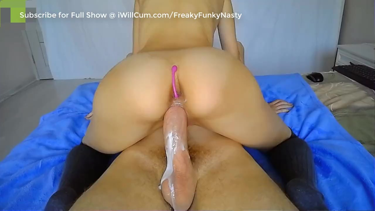Big Blonde Riding My Big Dick