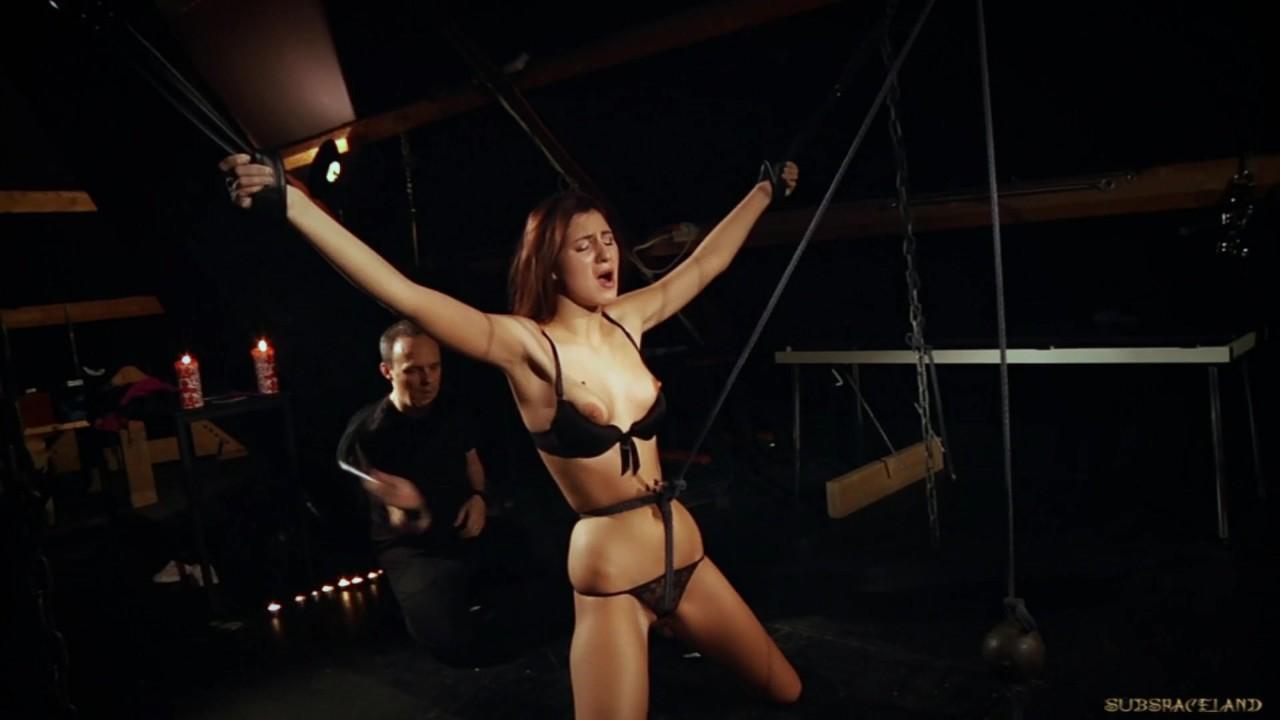 Amazing Teen Babe fucking : Tall slave tied keen masturbated on the floor