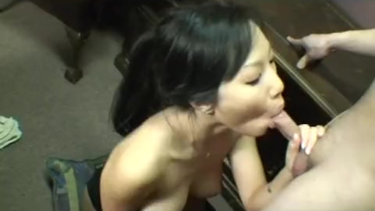 Pleasant Teen Babe fuck : Asian girlfriend nibbling on a dick straight